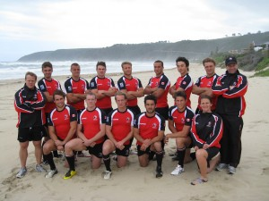 Sport Physiotherapist, Timberly George, with Rugby Canada's Sr. Men's 7s team in South Africa